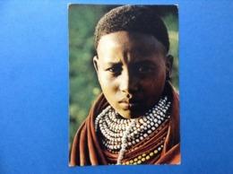 CARTOLINA FORMATO GRANDE VIAGGIATA NEL 1987 KENYA COSTUMI POPOLARI TRIBES OF KENTA BORANA BOY - Kenia
