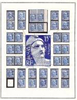 GANDON 15 Frs Exceptionnel ! VARIÉTÉS Constantes étude Sérieuse (1 De 5) - 1945-54 Marianne De Gandon