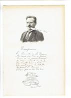 EDMOND PERRIER 1844 TULLE 1921 PARIS ZOOLOGISTE ANATOMISTE PORTRAIT AUTOGRAPHE BIOGRAPHIE ALBUM MARIANI - Documents Historiques
