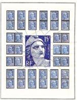 GANDON 15 Frs Exceptionnel ! VARIÉTÉS Constantes étude Sérieuse (5 De 5) - 1945-54 Marianne De Gandon