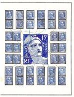 GANDON 15 Frs Exceptionnel ! VARIÉTÉS Constantes étude Sérieuse (4 De 5) - 1945-54 Marianne De Gandon