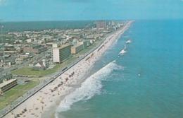 Virginia Beach VA - Aerial View Postcard 1975 - Virginia Beach