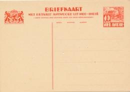 Nederlands Indië - 1934 - 10+10 Cent Karbouwen, Briefkaart G59 - Ongebruikt - Nederlands-Indië