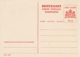 Nederlands Indië - 1945 - 10 Cent Wapen, Briefkaart G74a - Ongebruikt - Nederlands-Indië
