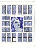 GANDON 15 Frs Exceptionnel ! VARIÉTÉS Constantes étude Sérieuse (2 De 5) - 1945-54 Marianne De Gandon