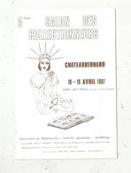 Cp, Bourses & Salons De Collections, 3 E Salon Des Collectionneurs, CHATEAUBERNARD , Charente , 1987, 2 Scans - Borse E Saloni Del Collezionismo