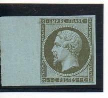N°11 (*) MORDORE NEUF SANS GOMME BORD DE FEUILLE TRES BELLE PIECE SIGNEE CALVES DEPART 10 EUROS COTE + DE 220 EUROS - 1853-1860 Napoléon III