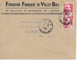 Fédération Francaise De Volley-ball 1948 Lettre - Voleibol