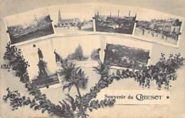 71 - LE CREUSOT :  Multivues Fantaisie ... Souvenir Du Creusot ... CPA - Saône Et Loire - Le Creusot