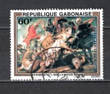 GABON  PA N° 199  OBLITERE  COTE 0.40€    RUBENS TABLEAUX PEINTRE - Gabun (1960-...)