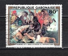 GABON  PA N° 200  OBLITERE  COTE 0.60€    RUBENS TABLEAUX PEINTRE - Gabun (1960-...)
