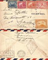 J) 1937 NICARAGUA, OLIMPIC SEAL, BASEBALL, BANKNOTE, MOMOTOMBO, MULTIPLE STAMPS, AIRMAIL, CIRCULATED COVER, FROM NICARAG - Nicaragua