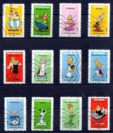 FRANCE AUTOADHESIFS OBLITERES-SERIE COMPLETE DE 12 TIMBRES-N° YVERT 1729 A 1740 - ANNEE 2019 - CARNET ASTERIX - Luchtpost