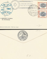J) 1961 COSTA RICA, XV WORLD BASEBALL CHAMPIONSHIP OF AFFILIATES, PHARMACY OF NATIONAL INDUSTRIES, MULTIPLE STAMPS, FDC - Costa Rica