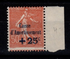 YV 250 N** Caisse D'Amortissement Semeuse Cote 75 Euros - France