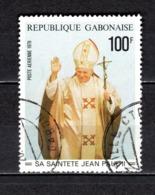 GABON  PA N° 217  OBLITERE  COTE 1.70€    PAPE JEAN PAUL II - Gabun (1960-...)