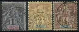 Sénégal (1887) N 8 à 10 (o) - Senegal (1887-1944)