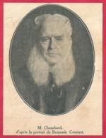 Alfred Chauchard. Homme D'affaires Et Collectionneur D'art Français. D'après Le Portrait De Benjamin Constant. 1909 - Documents Historiques