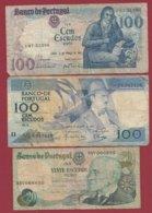 Portugal 3 Billets Dans L 'état Lot N °1----(1) - Portugal