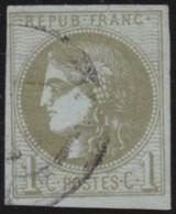 France       .    Yvert    .   39C  Report 3    (2 Scans)            .         O      .      Oblitéré - 1870 Emission De Bordeaux
