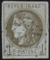 France       .    Yvert    .   39A  Report 1    (2 Scans)            .         O      .      Oblitéré - 1870 Ausgabe Bordeaux