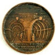 ROYAUME-UNI - MÉDAILLE TUNNEL SOUS LA TAMISE- 1824- RARE - Altri