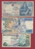 Portugal 3 Billets Dans L 'état Lot N °3----(3) - Portugal