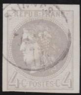 France       .    Yvert    .   41B  Report 2    (2 Scans)            .         O      .      Oblitéré - 1870 Emission De Bordeaux