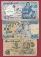 Portugal 3 Billets Dans L 'état Lot N °4----(4) - Portugal