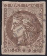 France       .    Yvert    .   47  (2 Scans       .       O      .      Oblitéré - 1870 Emission De Bordeaux