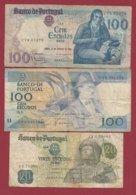 Portugal 3 Billets Dans L 'état Lot N °5----(5) - Portugal