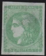 France       .    Yvert    .  42 B  Report 2  (2 Scans)  .  Aminci    .      (*)      .     Pas De Gomme - 1870 Emissione Di Bordeaux