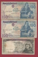 Portugal 3 Billets Dans L 'état Lot N °6----(6) - Portugal