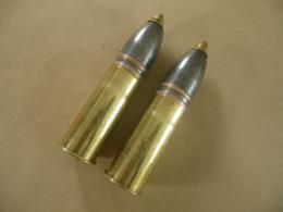 Paire D'obus De 37 Mm Artisanat De Tranchée : LA MARNE  LA VESLE - Equipment