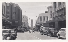 Honolulu Hawaii Fort Street Scene, Business Signs, Autos, C1940s Vintage Photograph - Places