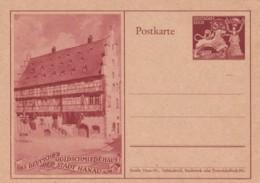1942 Deutsche Goldschmeiedehaus Der Stadt Hanau A/M Postal Card Stationery, Goldsmith's House Hanau - Covers & Documents