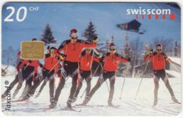 SWITZERLAND C-224 Chip Swisscom - Sport, Cross-country Skiing - Used - Suisse