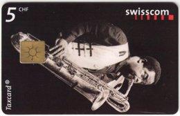 SWITZERLAND C-231 Chip Swisscom - Musician, Jazz - Used - Suisse