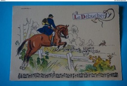 CPSM Illustrateur JACK PARTITION MUSIQUE Sonneries Trompes CHASSE A COURRE CHEVAL COR CHIEN CERF Le Débucher RARE - Autres Illustrateurs