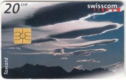 SWITZERLAND C-243 Chip Swisscom - Weather, Clouds - Used - Suisse