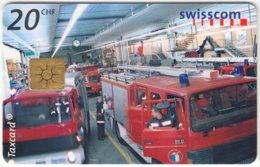 SWITZERLAND C-287 Chip Swisscom - Traffic, Fire Engine - Used - Suisse