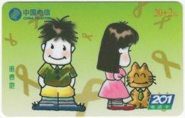 CHINA D-310 Prepaid ChinaTelecom - Cartoon, People, Children - Used - Chine