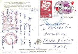 """ U.R.R.S  Pacific Ocean Ship "" 1982, Schiff. + Flamme Philippines Vers Suisse - Machine Stamps (ATM)"