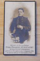 Wo1 1914 1918 Doodsprentje Foto Soldaat 8e Linie Theophiel Stalpaert + 1914 - Religion & Esotérisme