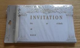 Cartons D Invitation  + Enveloppe Hallmark S X 16  ( 2 Paquets De 8 )  Texte Anglais à Compléter Neuves - Andere Verzamelingen