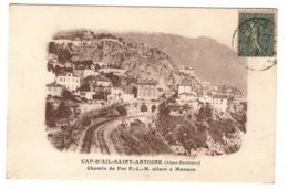 06 ALPES MARITIMES - CAP D'AIL SAINT ANTOINE Chemin De Fer P.L.M Allant à Monaco - Cap-d'Ail