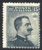 1909 MICHETTI 15 CENT N. 86 NUOVO* LEGGERA TRACCIA DI LINGUELLA  - MVLH - Nuovi