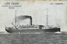 MARINA LLOYD ITALIANO PIROSCAFO CASERTA 1916 POSTA MILITARE 27 DIVISION X GENOVA - Paquebots