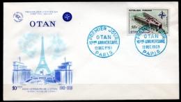 FDC FRANCE 1959 - N° 1228 - 50 F - OTAN - 10ème Anniversiare - 1950-1959