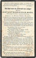 Doodsprentje  *  Maes Octaaf  (° Geeraardsbergen 1848 / + Dendermonde 1910) X De Wolf Leontina & De Beul Maria - Religion & Esotérisme